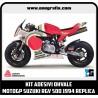 Kit adesivi OHVALE replica LUCKY STRIKE MotoGP Suzuki RGV 500 1994 (carene bianche)