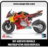 Kit adesivi OHVALE replica KTM MotoGP 2020 (carene nere)