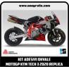 Kit adesivi OHVALE replica MotoGP KTM TECH 3 2020 (carene nere - finitura opaco)
