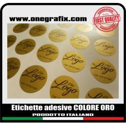 Custom GOLD ROUND sticky...