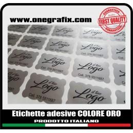 Etichette adesive ARGENTO -...
