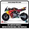 Kit adesivi OHVALE replica Moto2 KTM RED BULL 2017 (carene nere)