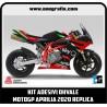 Kit adesivi OHVALE replica MOTOGP APRILIA 2020 (carene nere)