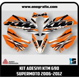 KTM 690 Supermoto decal kit...